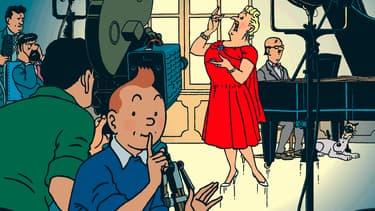 """Couverture des """"Bijoux de la Castafiore"""" de Hergé"""