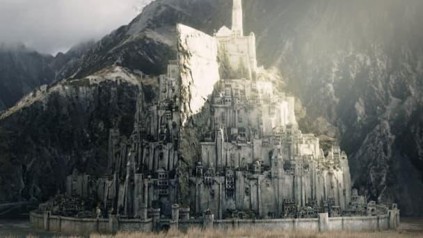 Vue du projet de ville de Minas Tirith