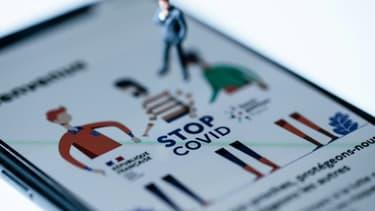 La première version de l'application StopCovid, lancée le 2 juin.