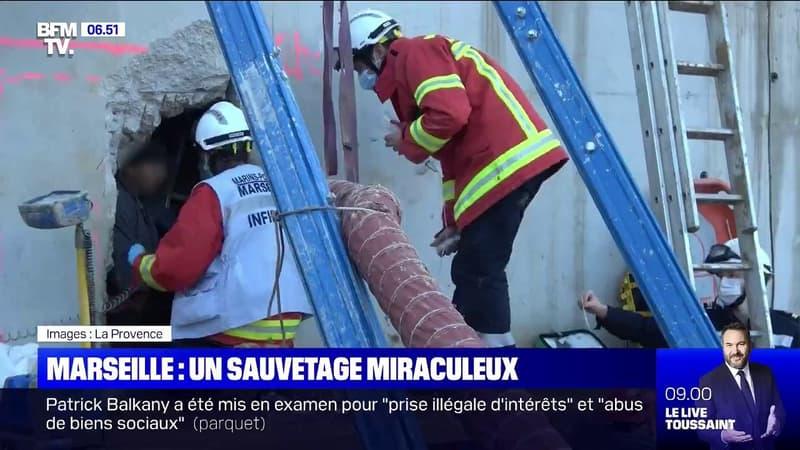 À Marseille, le sauvetage miraculeux d'un ouvrier enseveli sous des décombres pendant plus de 20 heures
