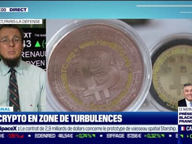Les crypto-monnaies en zone  de turbulences