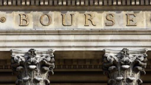 La façade du Palais Brogniard, qui abrite la Bourse de Paris.