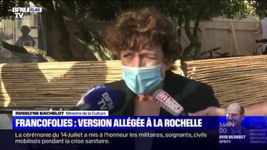 """Aux Francofolies, Roselyne Bachelot souhaite qu'il y ait """"des projets innovants"""" pour la culture"""