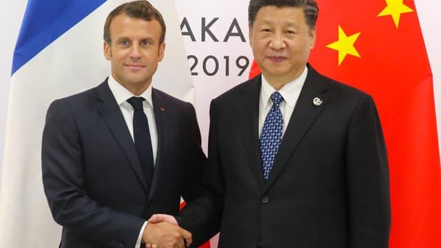 Emmanuel Macron et Xi Jinping lors du G20 à Osaka, 28-29 juin 2019