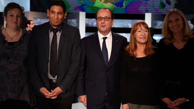 François Hollande lors d'une émission face aux Français sur TF1