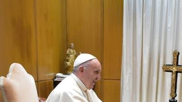 François Hollande et le pape François au Vatican le 17/08/16