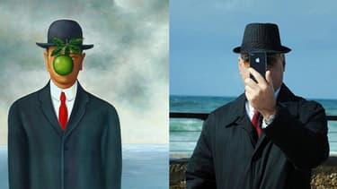"""""""Son of Man"""", de Magritte."""