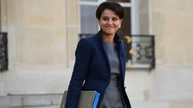 Najat Vallaud-Belkacem le 7 décembre 2016 devant le palais de l'Élysée