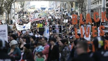 Une manifestation du mouvement Black Lives Matter à  Washington le 15 avril 2017