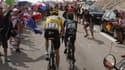 Chris Froome (en jaune) et Nairo Quintana, deux des favoris du Tour 2015
