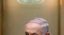 """Le Premier ministre israélien Benjamin Netanyahu. Les """"pourparlers de proximité"""" visant à relancer le processus de paix au Proche-Orient ont été lancés dimanche, ont annoncé les Palestiniens, alors qu'Israël souhaitait déjà les voir rapidement muer en un"""