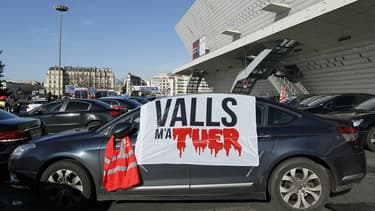 Des chauffeurs de VTC s'étaient mobilisés à Paris le 11 février 2016.