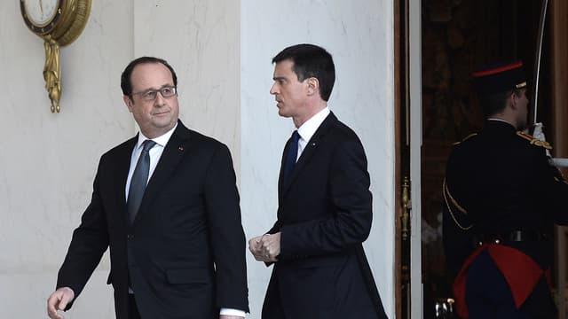François Hollande et Manuel Valls à l'Elysée