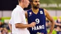 Vincent Collet et Tony Parker