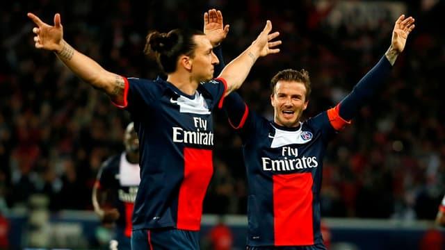 Zlatan Ibrahimovic aux côtés de David Beckham