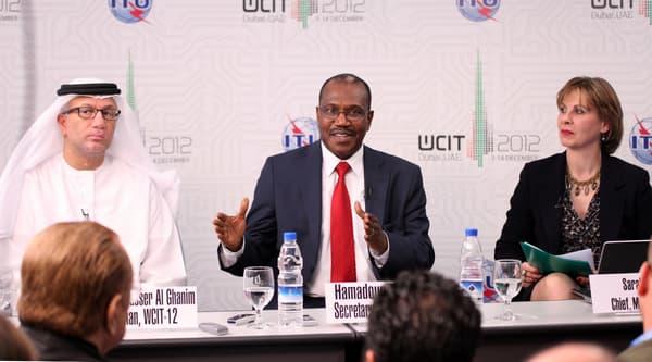 Mohamed Al Ghanim, président de la WCIT et Hamadoun Touré, secrétaire général de l'IUT.