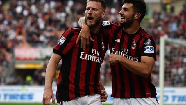 La joie des joueurs de l'AC Milan