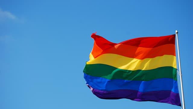 Un drapeau multicolore (Photo d'illustration).