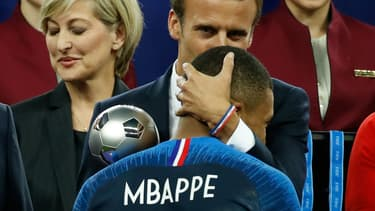 Le président de la République a vécu la rencontre France-Croatie avec ferveur.