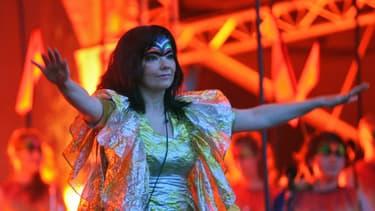 Björk en concert à Vilnius en 2008