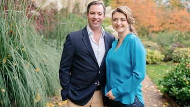 Le Couple héritier du Luxembourg,  le prince Guillaume, et son épouse Stéphanie