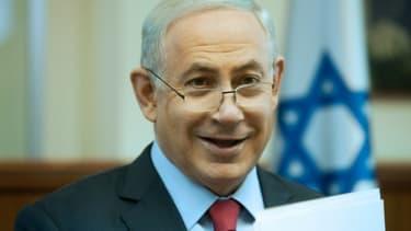 Le Premier ministre israélien Benjamin Netanyahu dans son bureau à Jérusalem, le 17 janvier 2016