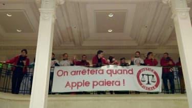 Le magasin Opéra a commencé à être occupé vers 10h30, selon Attac
