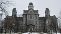 """Le """"Hall of Languages"""" de l'université de Syracuse, dans l'état de New York aux Etats-Unis."""