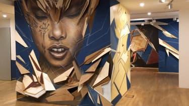 La fondation EDF accueille une fresque géante et éphémère créée par trois street-artists.