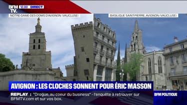 Avignon: les cloches des églises sonnent en hommage à Éric Masson