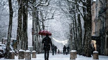 Chutes de neige à Lyon le 18 décembre 2017