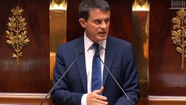 Le Premier ministre, Manuel Valls, lors de son discours de politique générale à l'Assemblée, le 16 septembre 2014.