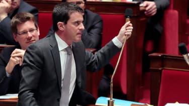 L'hémicyle se l'Assemblée nationale est habituée aux chaises vides mais moins aux boycotts. Ici Manuel Valls mardi 25 févirer.