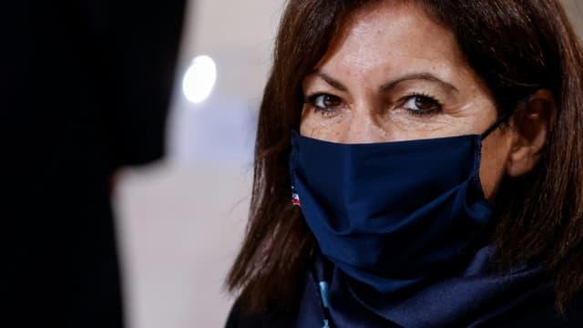 La maire de Paris Anne Hidalgo à Paris, le 11 novembre 2020