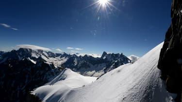 Le sommet du Mont-Blanc