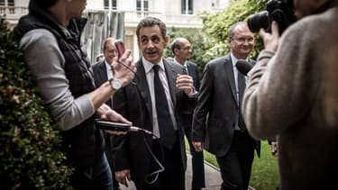 Nicolas Sarkozy à Paris le 25 octobre 2017.