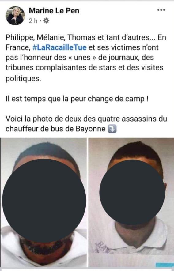 Les portraits diffusés par Marine Le Pen sur Twitter