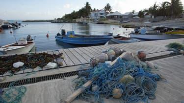 Le port de Capesterre sur l'île de Marie-Galante en Guadeloupe
