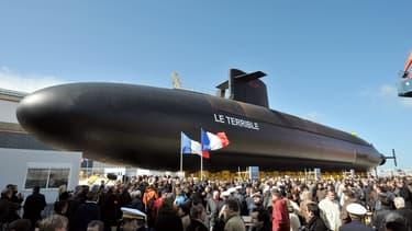 Le Terrible, ici lors de son inauguration en 2009, est l'un des quatre sous-marins nucléaires lanceurs d'engins français