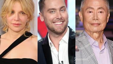 """Courtney Love, Lance Basse et George Takkei, se moquent sur Twitter des """"alternative facts"""" de l'équipe Trump."""