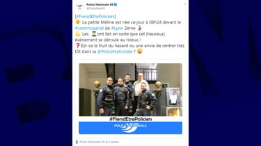 La femme a accouché ce vendredi matin devant le commissariat du 2e arrondissement.