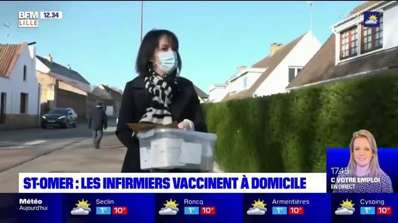 Saint-Omer: les infirmiers vaccinent à domicile les personnes isolées