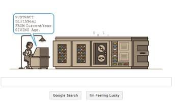 Un doodle Google pour Grace Hopper