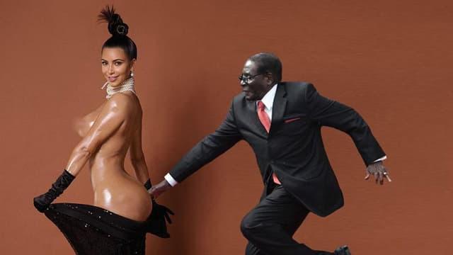 La chute de Robert Mugabe a été beaucoup parodiée, comme ici avec Kim Kardashian.