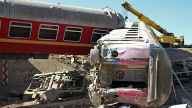 Un accident de train en Iran en 2012 (image d'illustration)