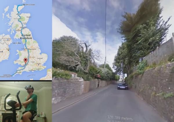 Le rendu visuel est meilleur dans le casque que sur l'écran, assure le cycliste.