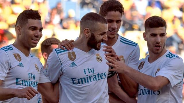 Benzema et ses coéquipiers du Real