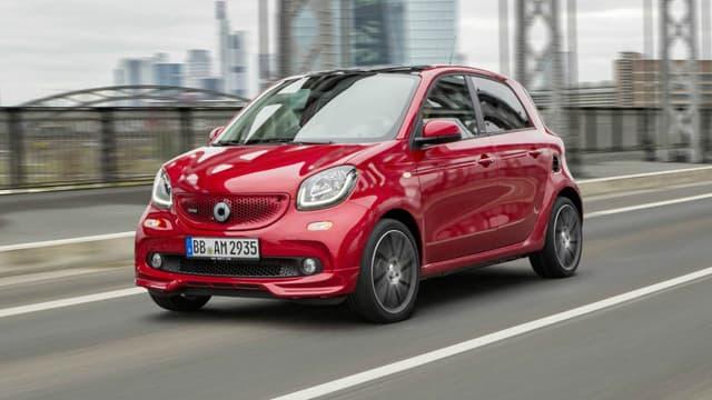 La marque de petites voitures citadines Smart.