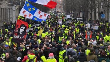 Manifestation des gilets jaunes le 2 mars 2019 à Lille.