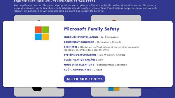 Capture d'écran du site jeprotegemonenfant.gouv.fr